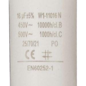 Kondensaattori16.0uf / 450 v + maa