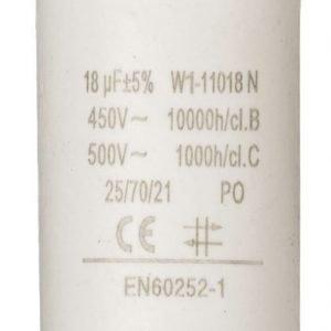 Kondensaattori18.0uf / 450 v + maa