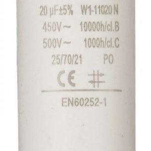 Kondensaattori20.0uf / 450 v + maa