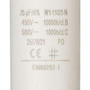 Kondensaattori25.0uf / 450 v + maa