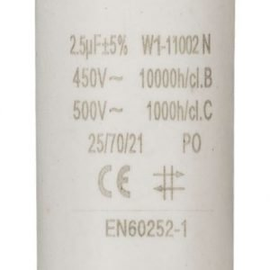 Kondensaattori2.5uf / 450 v + maa