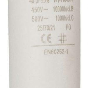 Kondensaattori40.0uf / 450 v + maa