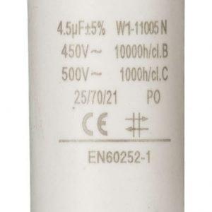 Kondensaattori4.5uf / 450 v + maa