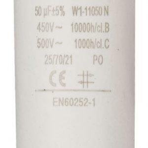 Kondensaattori50.0uf / 450 v + maa