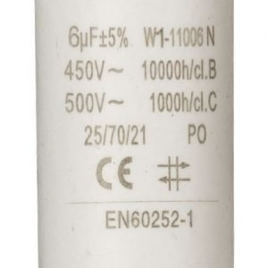 Kondensaattori6.0uf / 450 v + maa