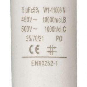 Kondensaattori8.0uf / 450 v + maa