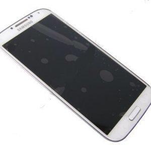 LCD-näyttö + kosketuspaneeli Samsung Galaxy S4 LTE Gt-I9505 - Valkoinen