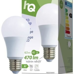 LED-lamppu A60 E27 6 5 W 470 lm 2700K
