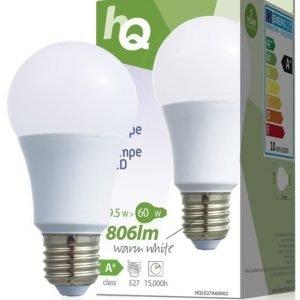LED-lamppu A60 E27 9 5 W 806 lm 2700K