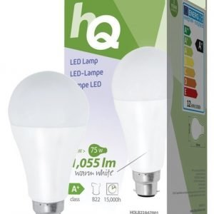 LED-lamppu A67 B22 12 W 1 055 lm 2700K