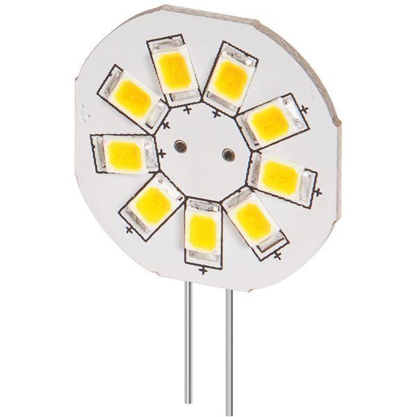 LED-lamppu G4 lämp.valk.valo 1 5W 11-14V DC 120Lm 2800K IP20