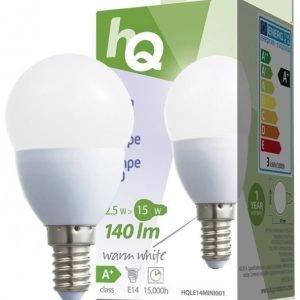 LED-lamppu minipallo E14 2 5 W 140 lm 2700K