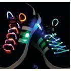 LED shoe laces green/purple