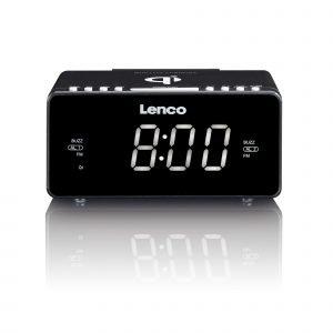 Lenco Cr-550 Kelloradio Langaton Latausasema Usb Musta