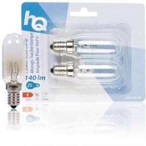 Liesituulettimen lamppu E14 25 W 2 kappaletta