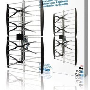 Litteä paneeliantenni ulkokäyttöön DVB-T ja UHF 14 dB