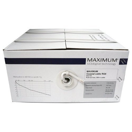 MAXIMUM RG6 Antenna Cable White
