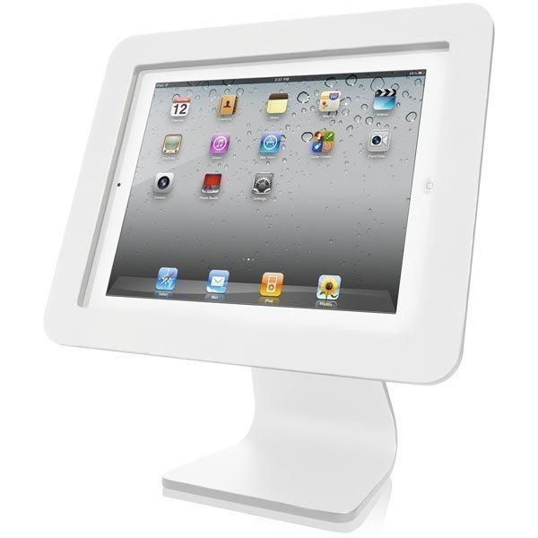 MacLocks Rotating Swivel Stand pöytäteline iPad vaijerilukko valk.