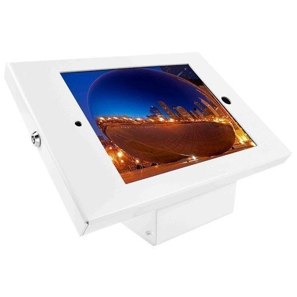 MacLocks iPad Enclosure Kiosk pöytäteline iPad lukkoreikä valk