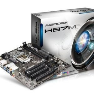 Mainboard-Socket-1150 ASRock H87M Intel H87 2xDDR3 CrossFireX Socket 1150 mATX
