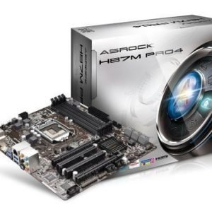 Mainboard-Socket-1150 ASRock H87M Pro 4 Intel H87 4xDDR3 CrossFireX Socket 1150 mATX