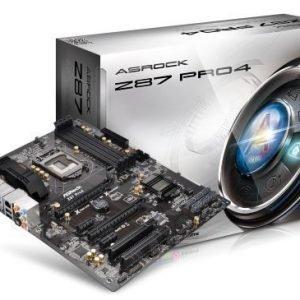 Mainboard-Socket-1150 ASRock Z87 Pro 4 Intel Z87 4xDDR3 CrossFireX Socket 1150 ATX