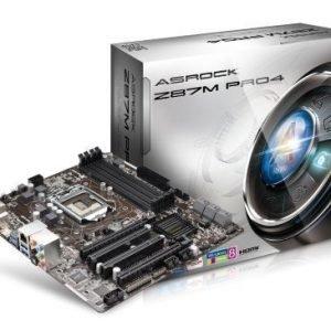 Mainboard-Socket-1150 ASRock Z87M Pro 4 Intel Z87 4xDDR3 CrossFireX Socket 1150 mATX