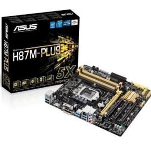 Mainboard-Socket-1150 Asus H87M-PLUS Intel H87 4xDDR3 CrossFireX Socket 1150 mATX