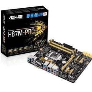 Mainboard-Socket-1150 Asus H87M-PRO Intel H87 4xDDR3 CrossFireX Socket 1150 mATX