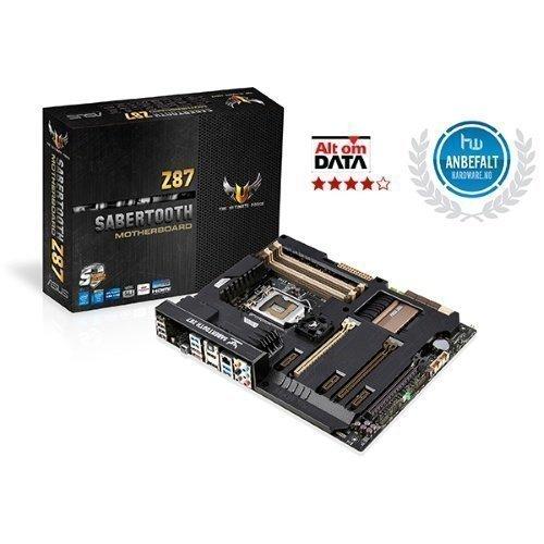 Mainboard-Socket-1150 Asus Sabertooth Z87 Intel Z87 4xDDR3 SLI CrossFireX Socket 1150 ATX