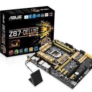 Mainboard-Socket-1150 Asus Z87-DELUXE/DUAL Intel Z87 4xDDR3 SLI CrossFireX Socket 1150 ATX