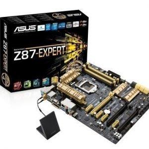 Mainboard-Socket-1150 Asus Z87-EXPERT Intel Z87 4xDDR3 SLI CrossFireX Socket 1150 ATX
