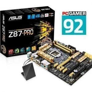 Mainboard-Socket-1150 Asus Z87-PRO Intel Z87 4xDDR3 SLI CrossFireX Socket 1150 ATX