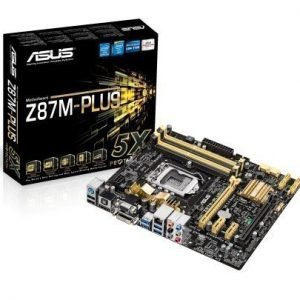 Mainboard-Socket-1150 Asus Z87M-PLUS Intel Z87 4xDDR3 CrossFireX Socket 1150 mATX