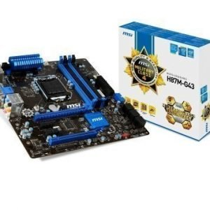 Mainboard-Socket-1150 MSI H87M-G43 Intel H87 4xDDR3 CrossFireX Socket 1150 mATX