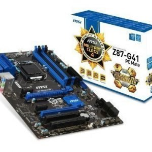 Mainboard-Socket-1150 MSI Z87-G41 PC Mate Intel Z87 4xDDR3 CrossFireX Socket 1150 ATX
