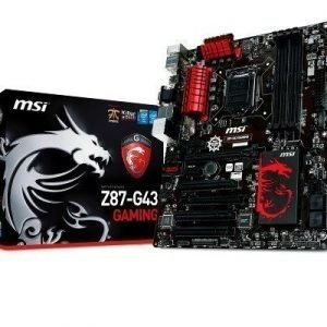 Mainboard-Socket-1150 MSI Z87-G43 GAMING Intel Z87 4xDDR3 CrossFireX Socket 1150 ATX