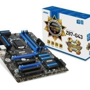 Mainboard-Socket-1150 MSI Z87-G43 Intel Z87 4xDDR3 CrossFireX Socket 1150 ATX