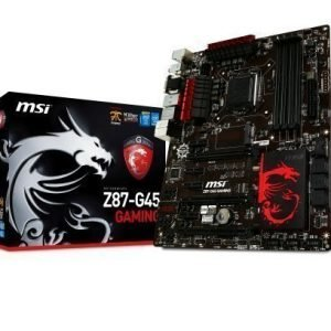 Mainboard-Socket-1150 MSI Z87-G45 GAMING Intel Z87 4xDDR3 SLI CrossFireX Socket 1150 ATX