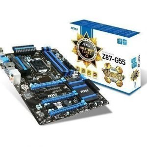 Mainboard-Socket-1150 MSI Z87-G55 Intel Z87 4xDDR3 SLI CrossFireX Socket 1150 ATX