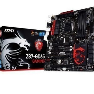 Mainboard-Socket-1150 MSI Z87-GD65 GAMING Intel Z87 4xDDR3 SLI CrossFireX Socket 1150 ATX