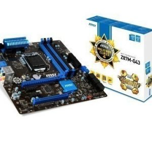 Mainboard-Socket-1150 MSI Z87M-G43 Intel Z87 4xDDR3 CrossFireX Socket 1150 mATX