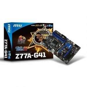 Mainboard-Socket-1155 MSI Z77A-G41 Intel Z77 4xDDR3 CrossFireX Socket 1155 ATX