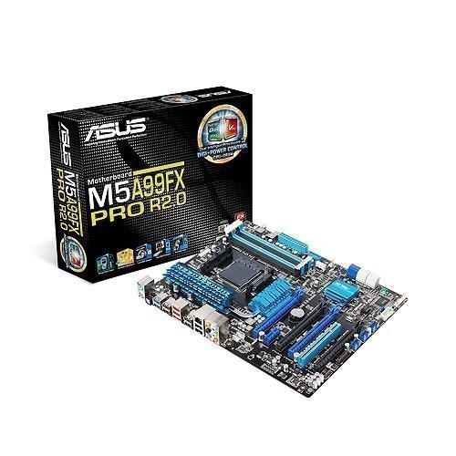 Mainboard-Socket-AM3 Asus M5A99FX PRO R2.0 AMD 990FX 4xDDR3 SLI CrossFireX Socket AM3+ ATX