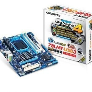 Mainboard-Socket-AM3 Gigabyte GA-78LMT-USB3 AMD 760G 4xDDR3 Socket AM3+ mATX