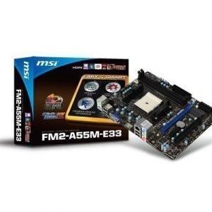 Mainboard-Socket-FM2 MSI FM2-A55M-E33 AMD A55 2xDDR3 Socket FM2 mATX