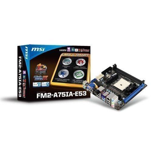 Mainboard-Socket-FM2 MSI FM2-A75IA-E53 AMD A75 2xDDR3 Socket FM2 mITX
