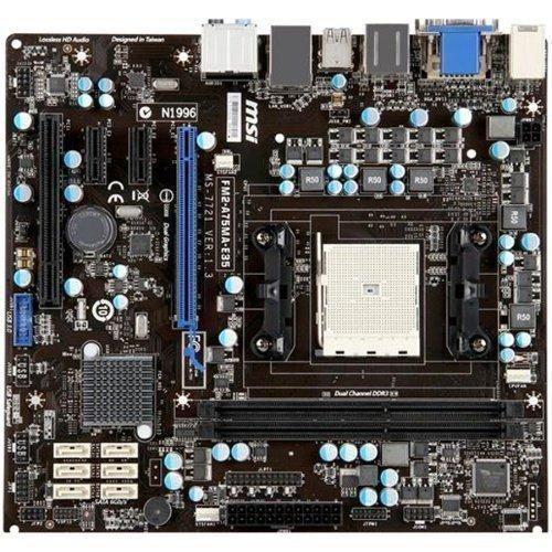 Mainboard-Socket-FM2 MSI FM2-A75MA-E35 AMD A75 2xDDR3 Socket FM2 mATX