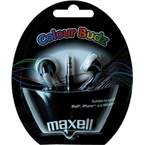 Maxell Colour Budz nappikuulokkeet musta