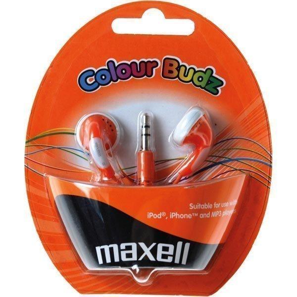 Maxell Colour Budz nappikuulokkeet oranssi